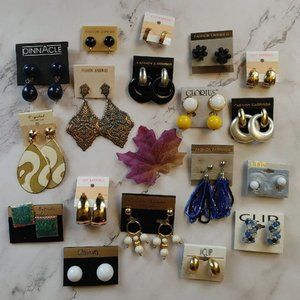 NEW 18 pairs clip on earrings lot bundle